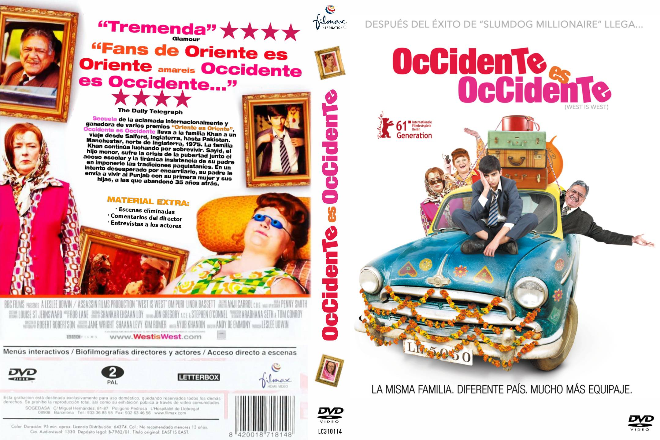 Información sobre la película Occidente es occidente